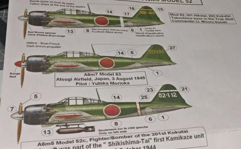 Mitsubishi A6M5 'Zero' (Revell 04755 Kit)Kick-Off